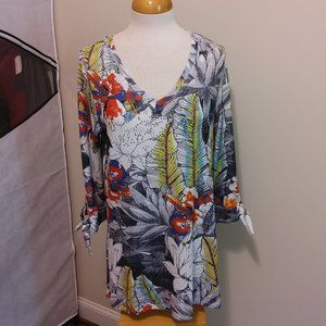 NWOT Onque Casual Beaded Tunic Top Size Large